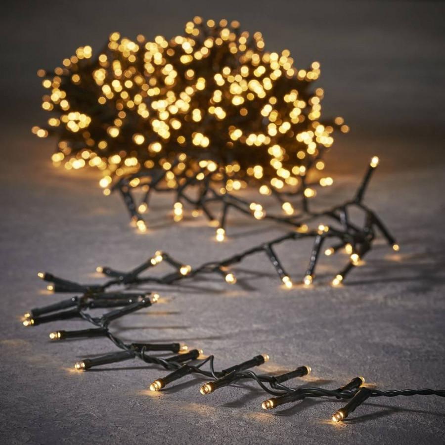 Фото:  Гирлянда Luca Lighting теплый белый свет (550 ламп, длина гирлянды 1100 см) для ёлки 185 см Luca Lighting
