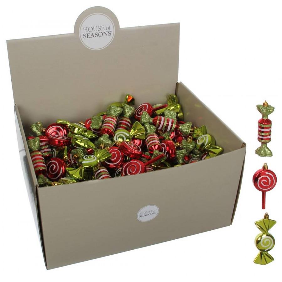 Фото:  Нaбoр плacтикoвых игрушек Конфета 10*4*4 см красный дисплей House of Seasons