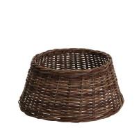 Плетеная корзина для елки коричневая 28х65 см
