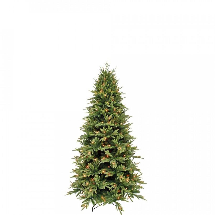 Фото:  Елка Королевская стройная 215 см 256 ламп зеленая Triumph Tree