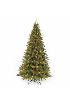 Елка Лесная Красавица стройная 185 см 168 ламп зеленая