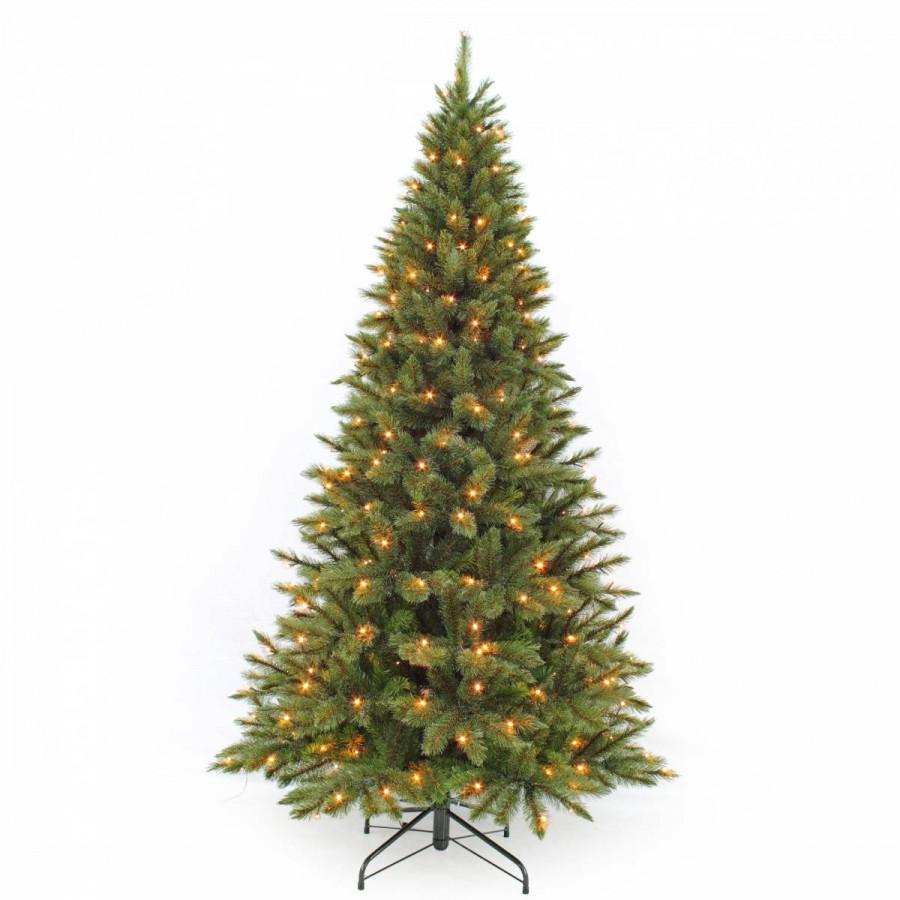 Фото:  Елка Лесная Красавица стройная 185 см 168 ламп зеленая Triumph Tree