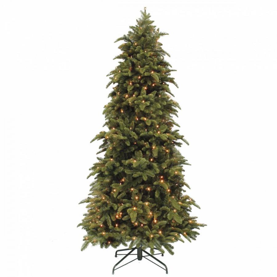 Фото:  Елка Нормандия стройная 365 см с лампами темно-зеленая Triumph Tree