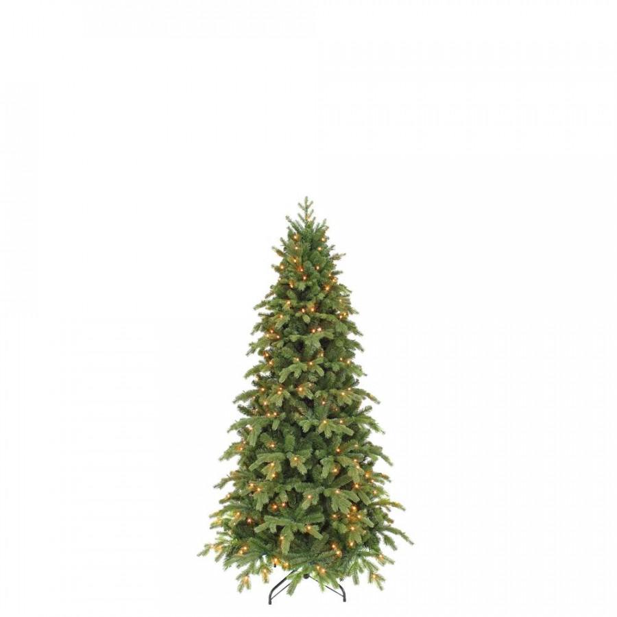 Фото:  Елка Королевская стройная 185 см 176 ламп зеленая Triumph Tree