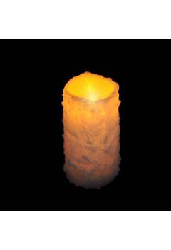 Свеча в инее теплый свет б/о 15*8см