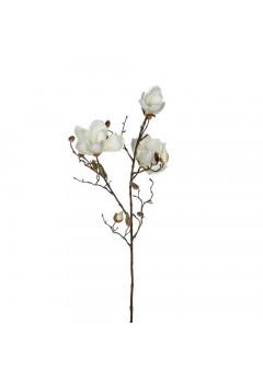 Веточка Магнолия белая 88 см
