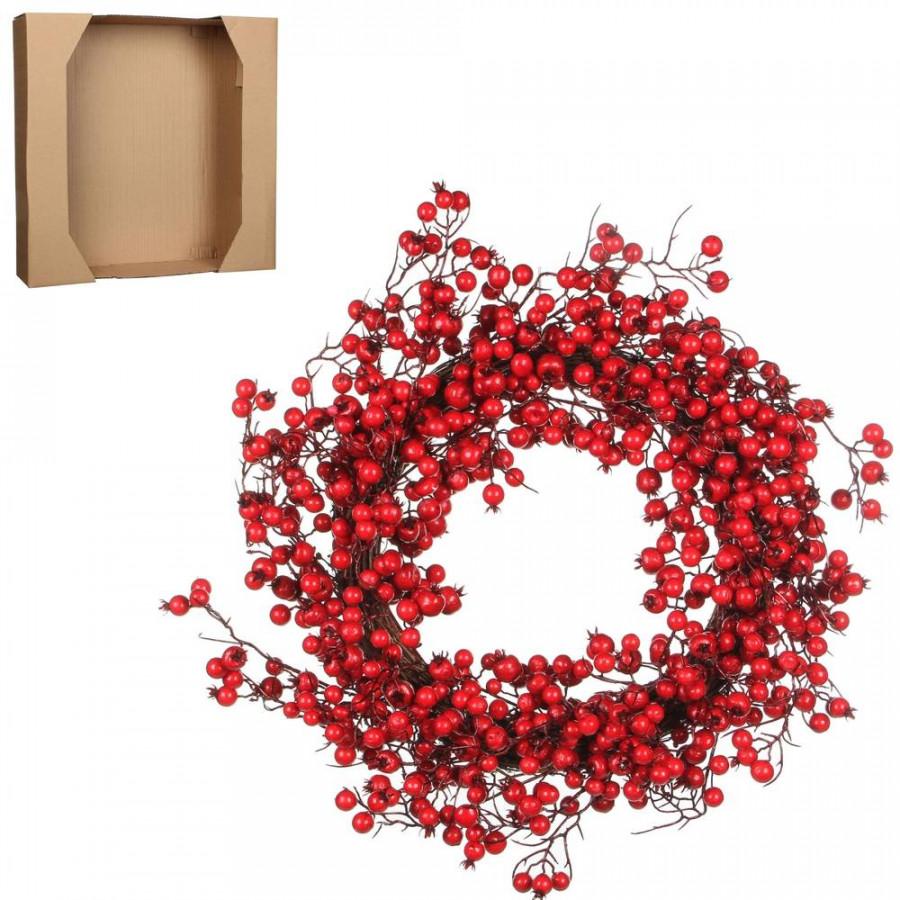 Фото:  Венок из красных ягод 50см House of Seasons