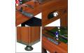 Фото:  Настольный футбол (кикер) «Standart» (122x61x78.7 см, коричневый) Weekend-5